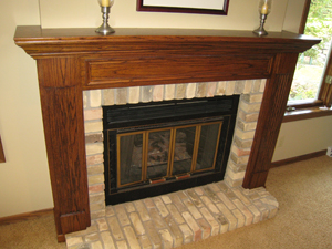 McHenrys custom fireplace mantle